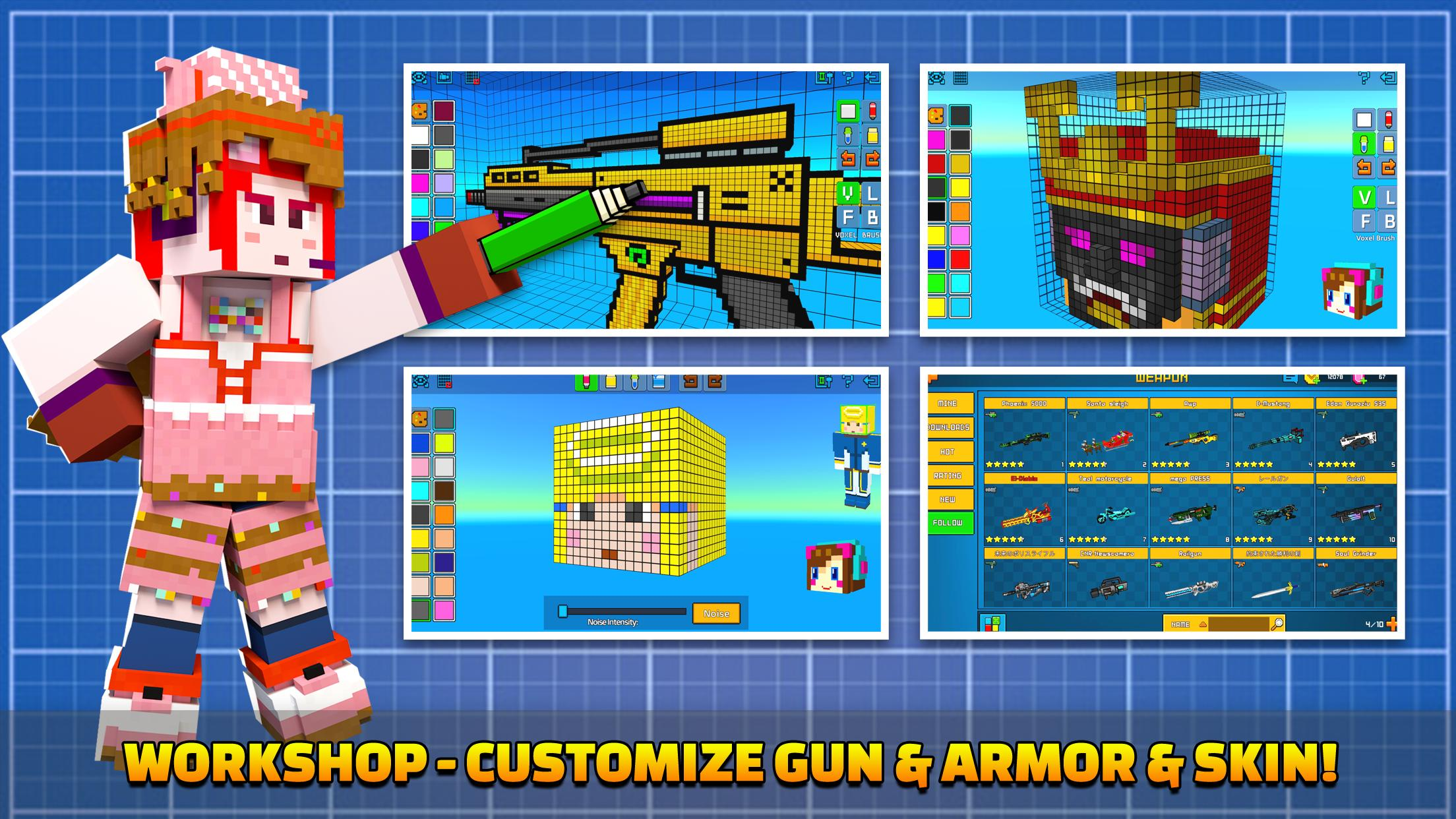 Cops N Robbers - 3D Pixel Craft Gun Shooting Games 9.8.4 Screenshot 7
