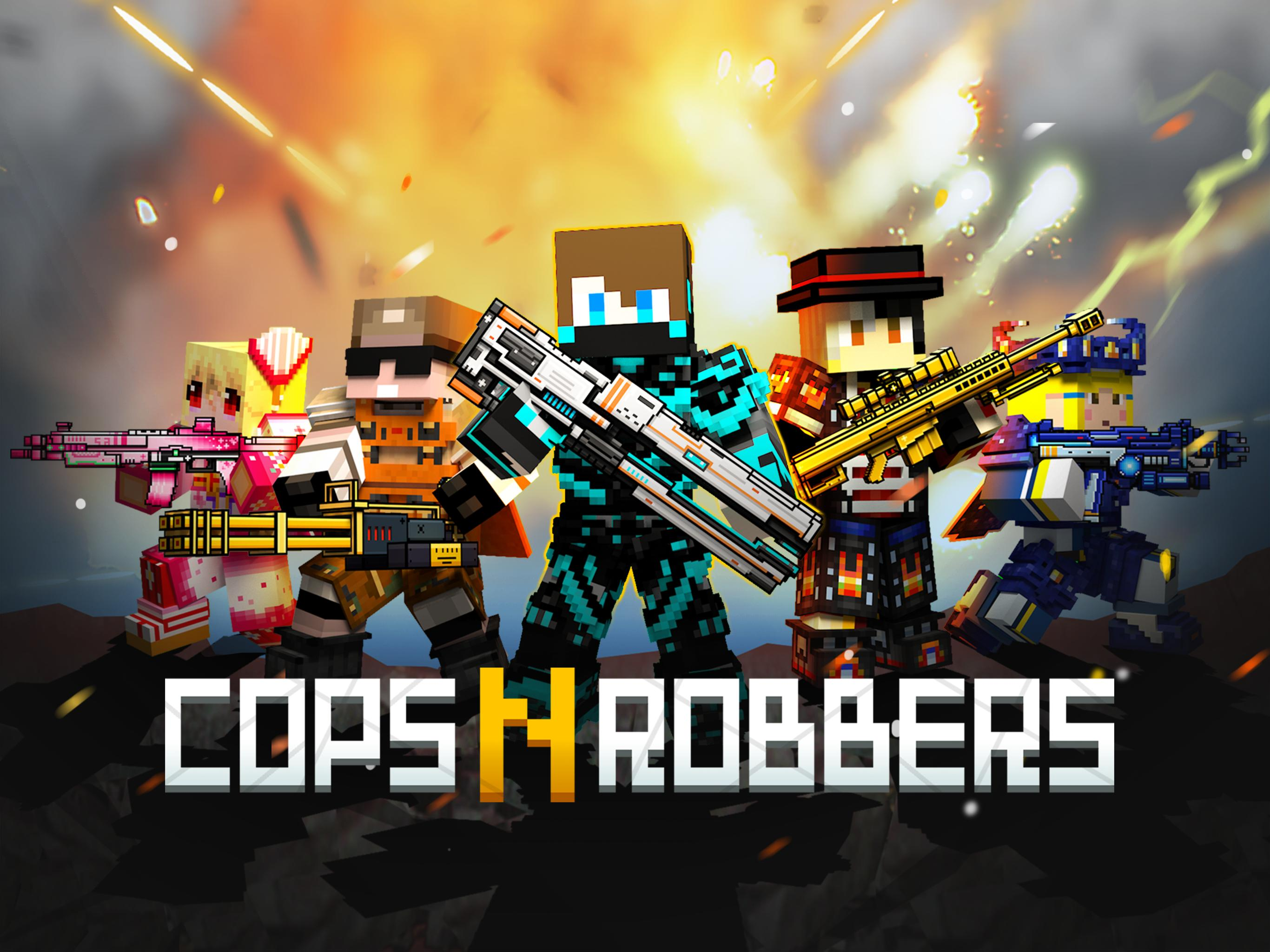 Cops N Robbers - 3D Pixel Craft Gun Shooting Games 9.8.4 Screenshot 9