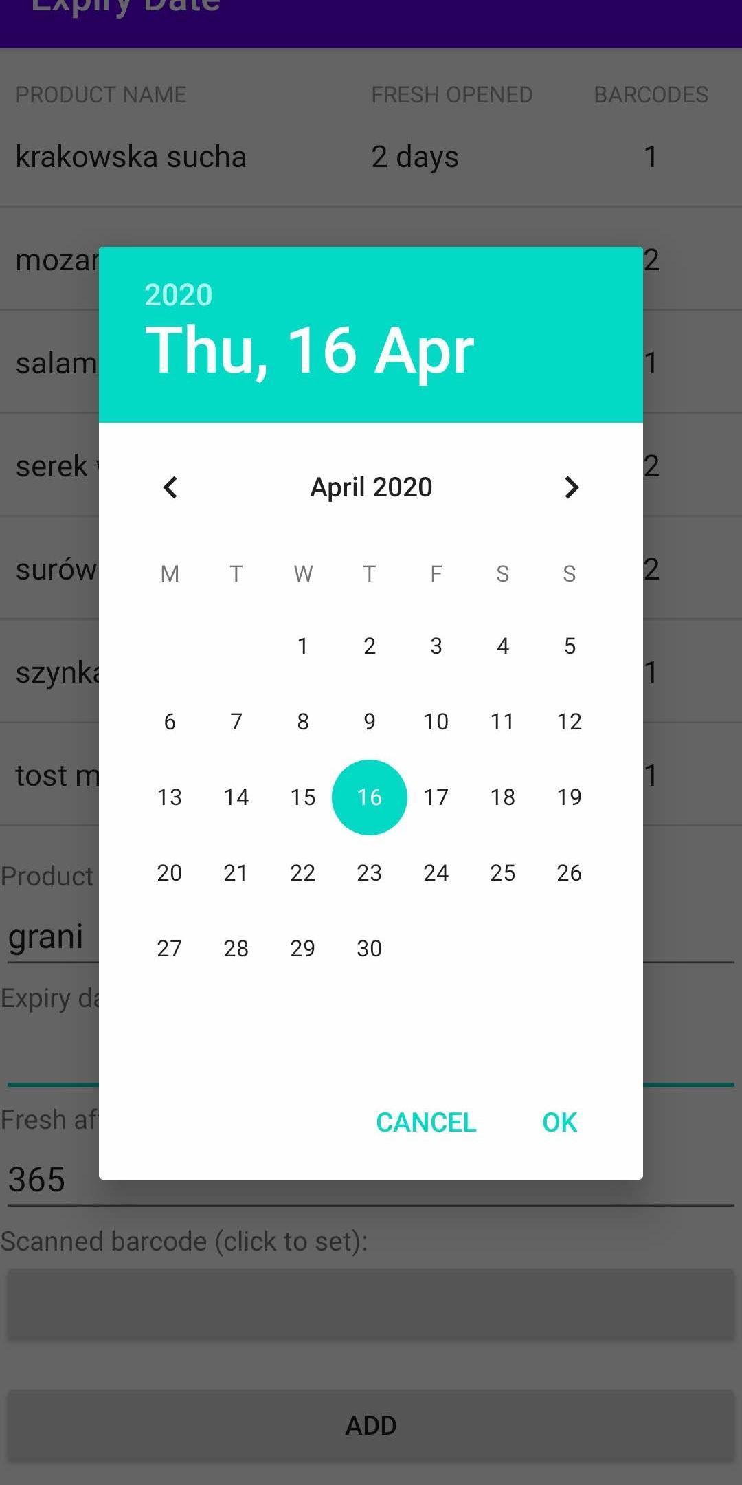 Expiry Date 1.45 Screenshot 3