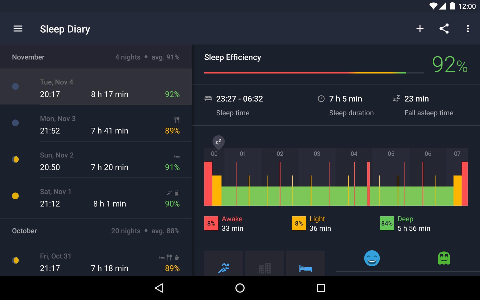 Runtastic Sleep Better: Sleep Cycle & Smart Alarm 2.6.1 Screenshot 17