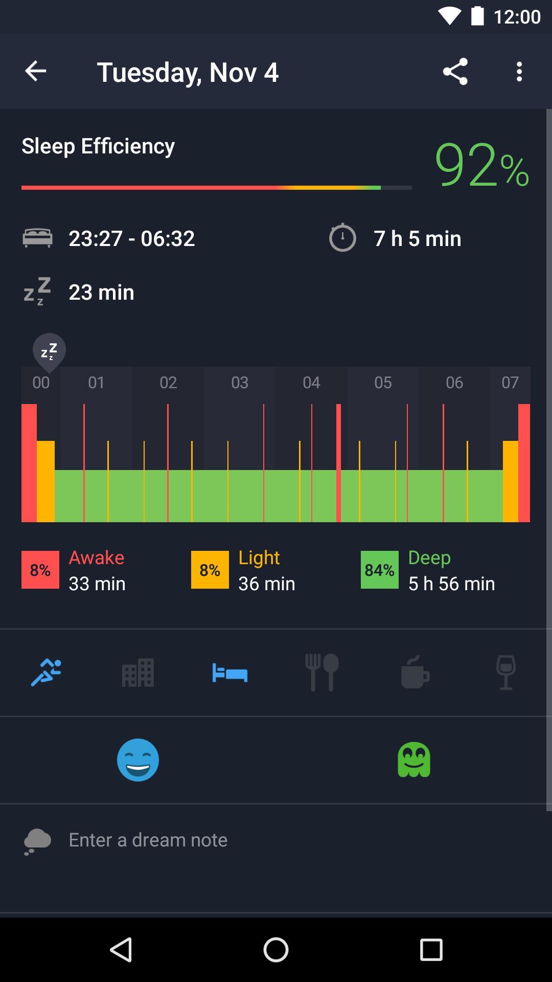 Runtastic Sleep Better: Sleep Cycle & Smart Alarm 2.6.1 Screenshot 2