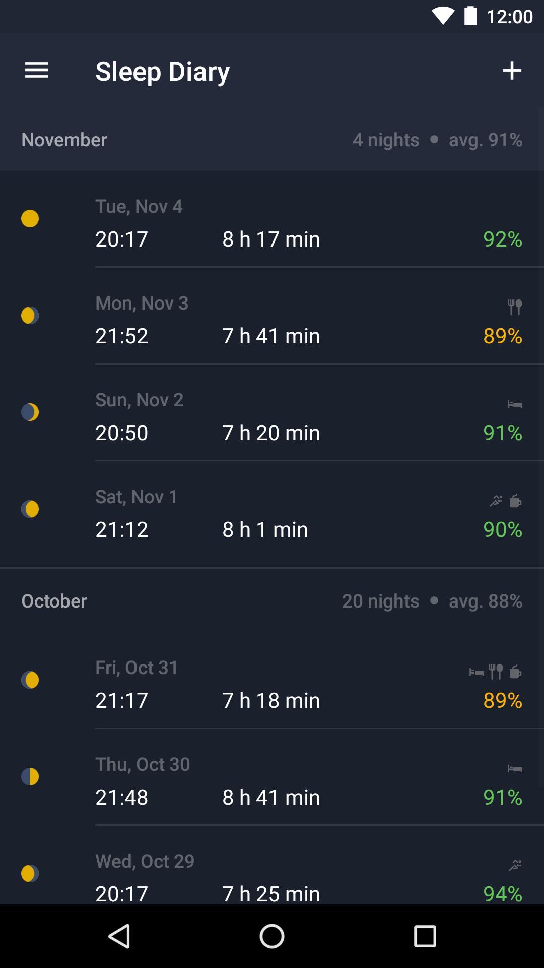 Runtastic Sleep Better: Sleep Cycle & Smart Alarm 2.6.1 Screenshot 3