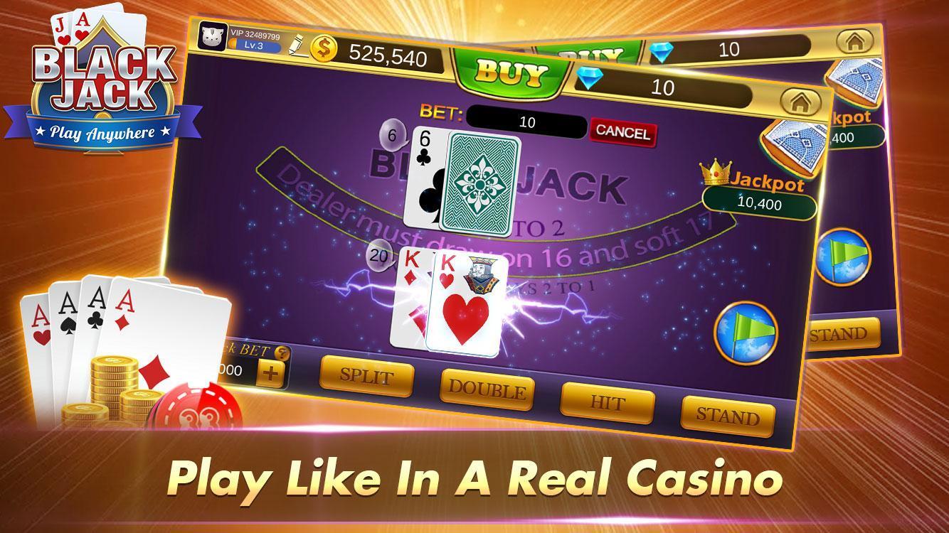 Blackjack 21 Free - Casino Black Jack Trainer Game 1.5.2 Screenshot 1