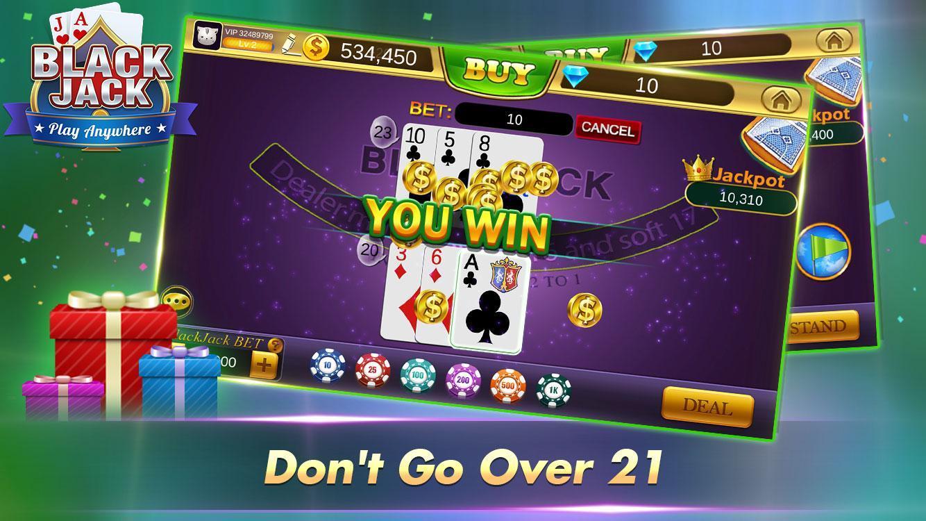 Blackjack 21 Free - Casino Black Jack Trainer Game 1.5.2 Screenshot 13