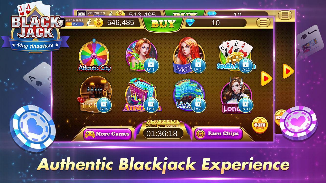 Blackjack 21 Free - Casino Black Jack Trainer Game 1.5.2 Screenshot 5