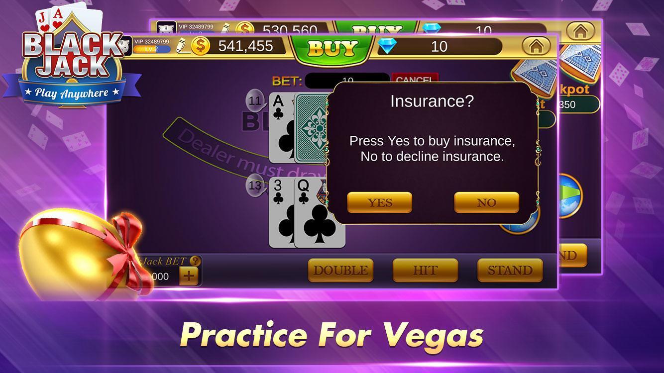 Blackjack 21 Free - Casino Black Jack Trainer Game 1.5.2 Screenshot 7