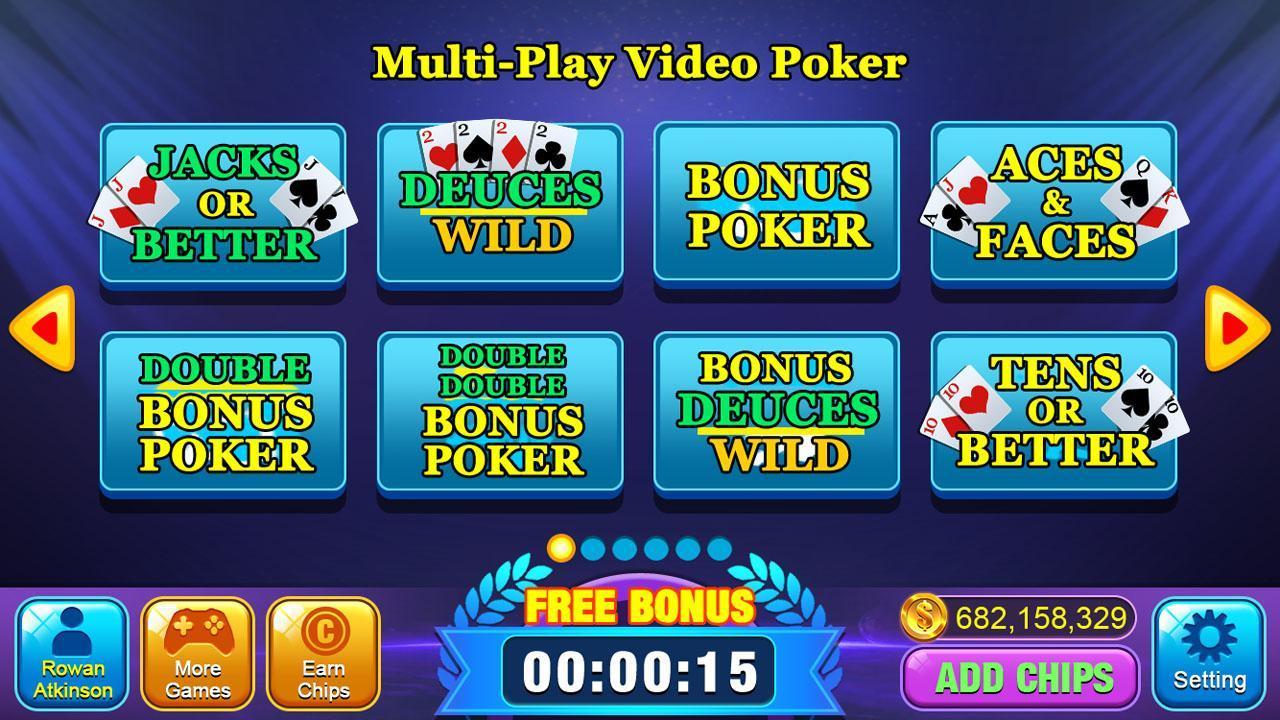 Video Poker Games - Multi Hand Video Poker Free 1.7 Screenshot 1