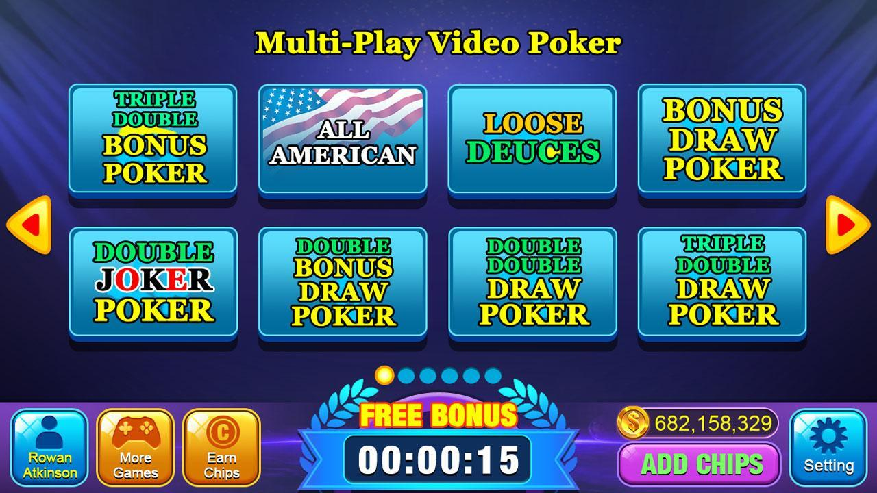 Video Poker Games - Multi Hand Video Poker Free 1.7 Screenshot 2