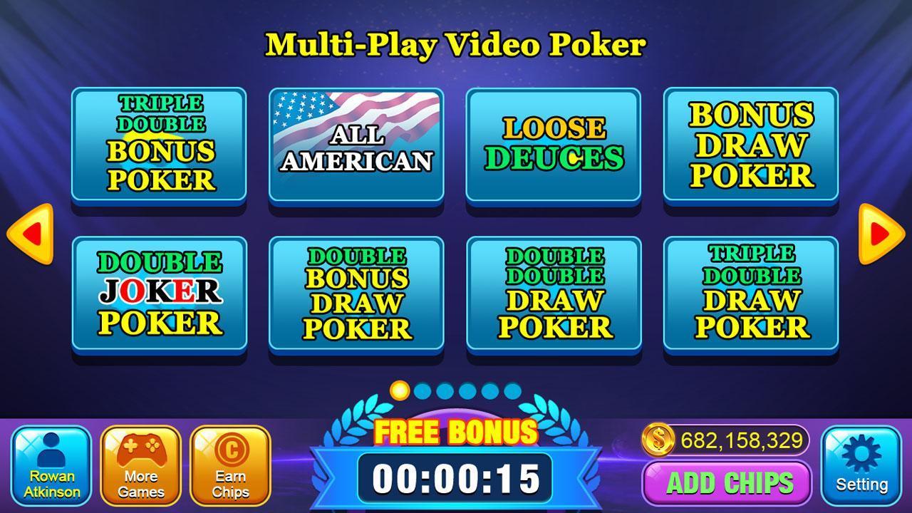 Video Poker Games - Multi Hand Video Poker Free 1.7 Screenshot 8