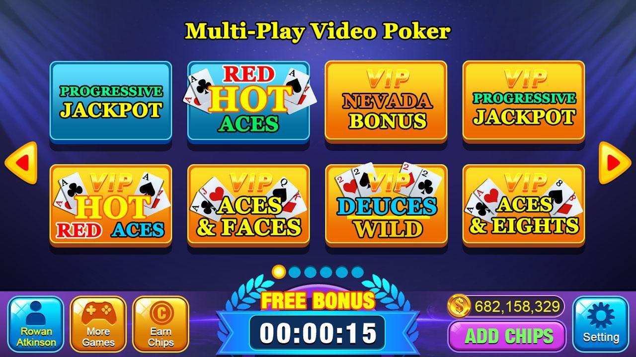 Video Poker Games - Multi Hand Video Poker Free 1.7 Screenshot 9