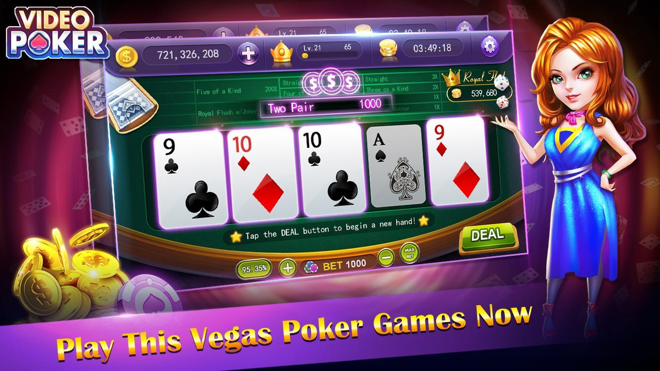 video poker - new casino card poker games free 1.23 Screenshot 3