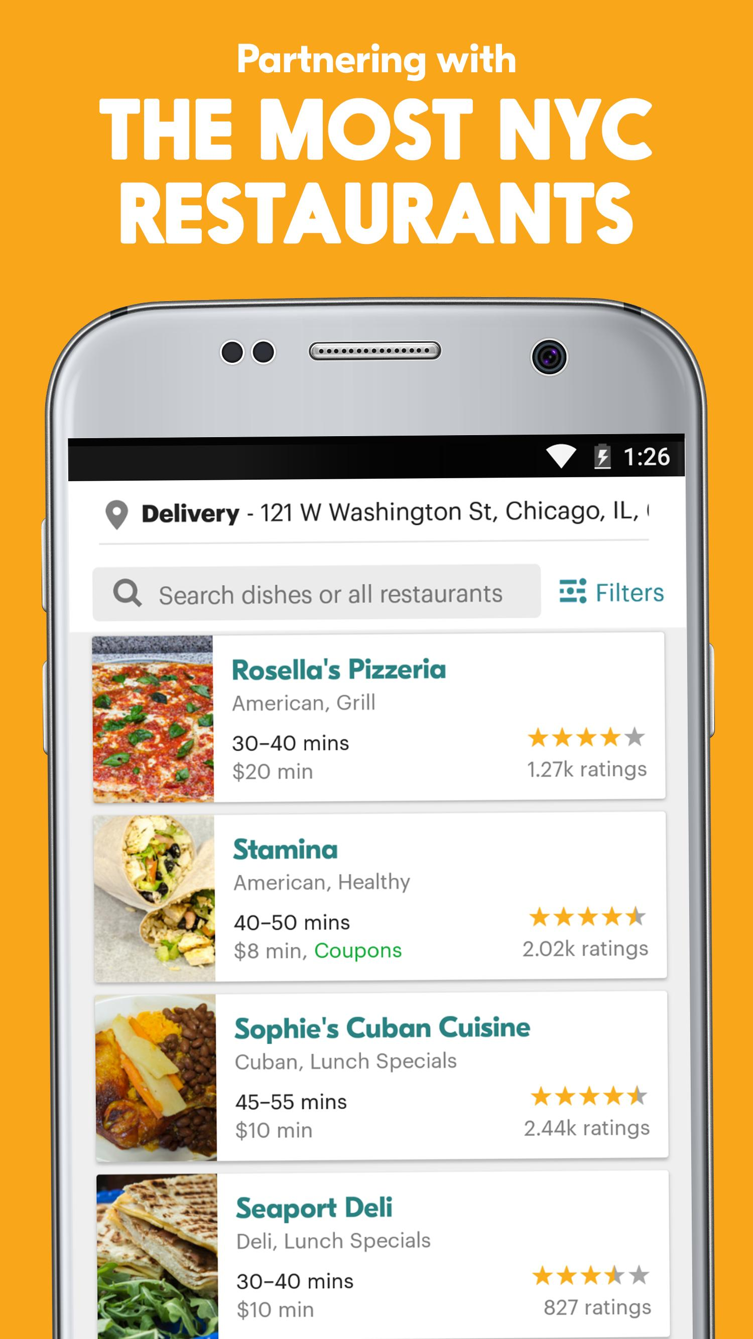 Seamless Restaurant Takeout & Food Delivery App 7.76 Screenshot 3