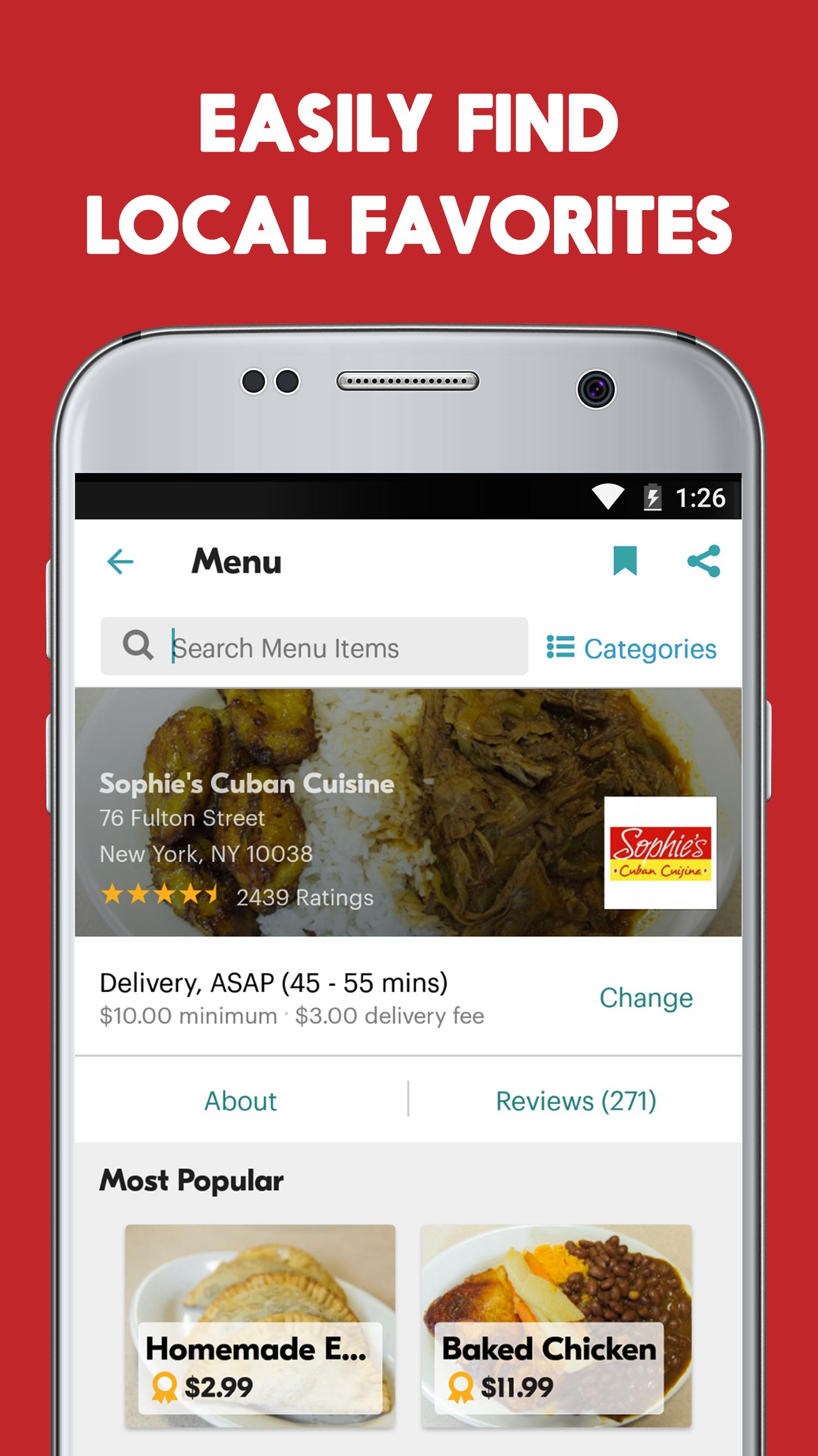 Seamless Restaurant Takeout & Food Delivery App 7.76 Screenshot 6