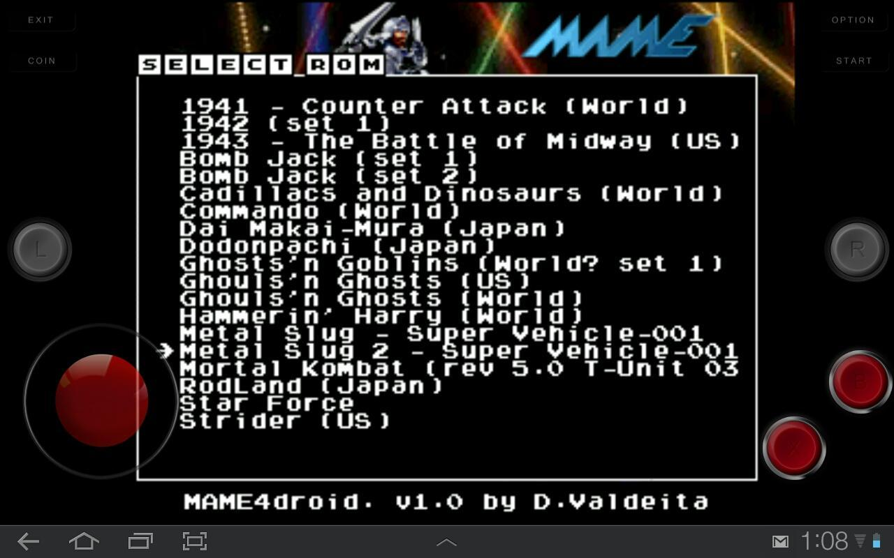 MAME4droid (0.37b5) 1.5.3 Screenshot 2