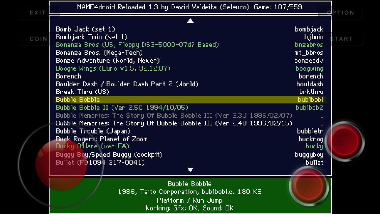 MAME4droid  (0.139u1) 1.15.6 Screenshot 1