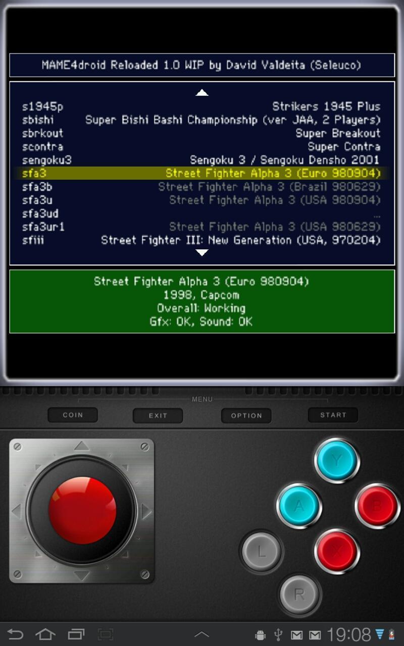 MAME4droid  (0.139u1) 1.15.6 Screenshot 2