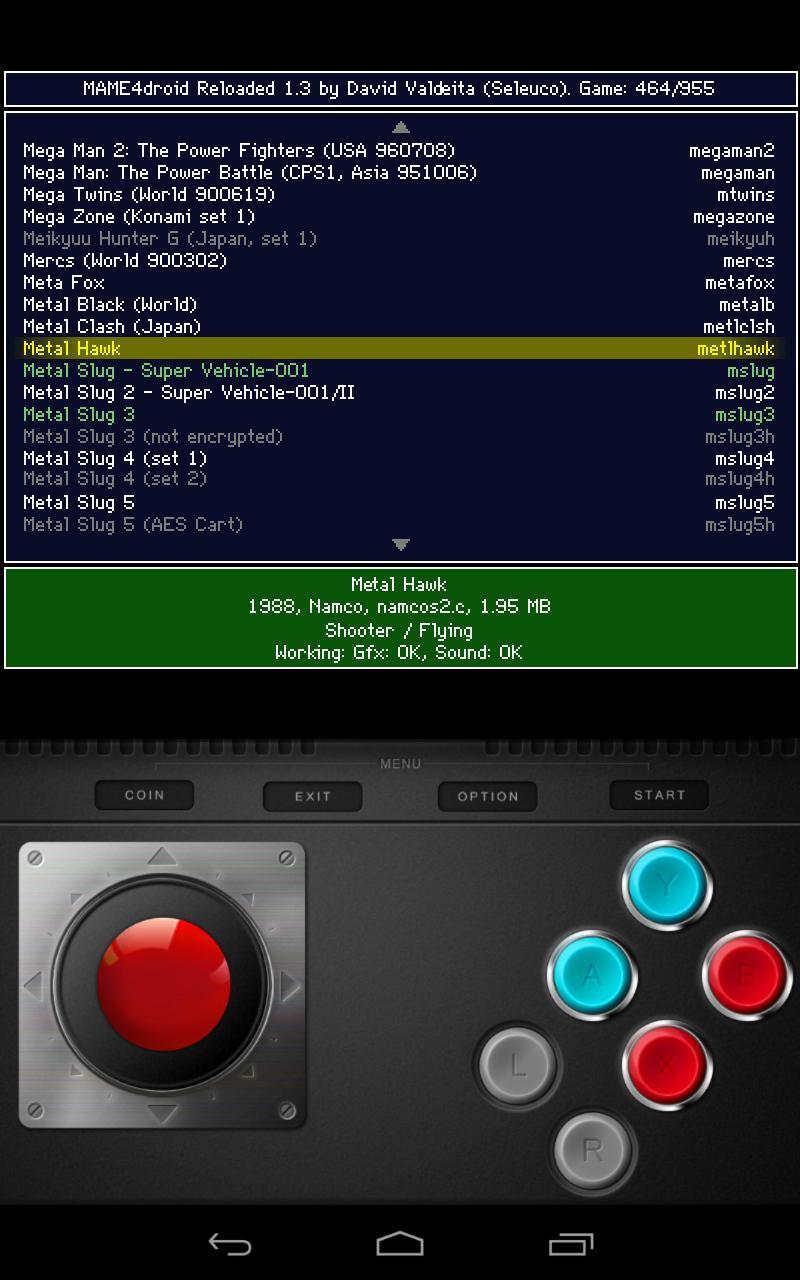 MAME4droid  (0.139u1) 1.15.6 Screenshot 3