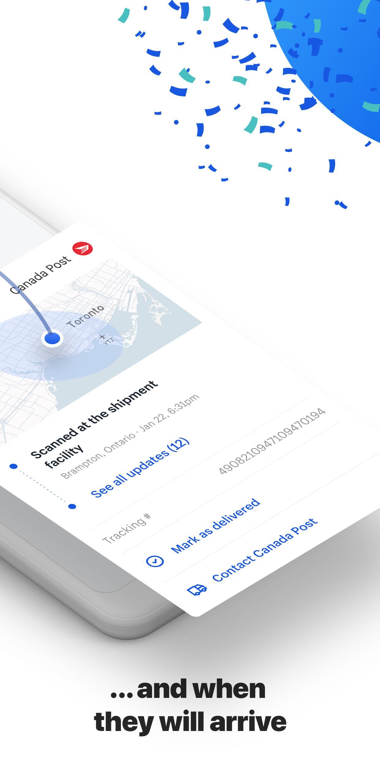 Arrive Package Tracker 1.6.0 Screenshot 3