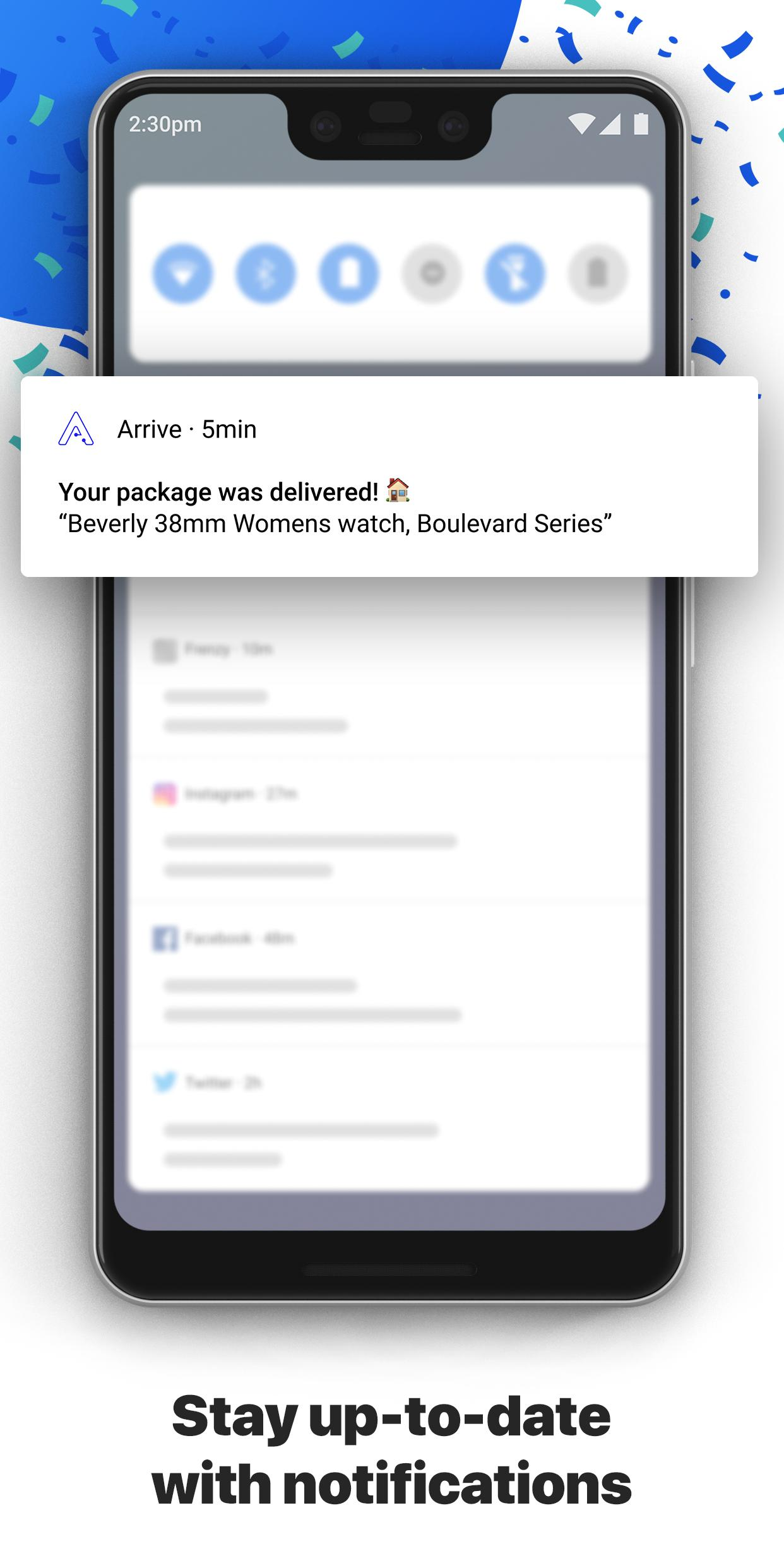 Arrive Package Tracker 1.6.0 Screenshot 4
