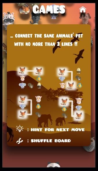 Animal connect game: PetsNet. Pet puzzle game free 1.27 Screenshot 16