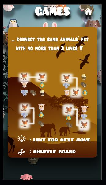 Animal connect game: PetsNet. Pet puzzle game free 1.27 Screenshot 6