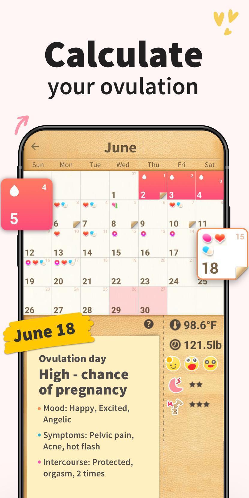 Period Tracker - Period Calendar Ovulation Tracker 1.716.221.GP Screenshot 3