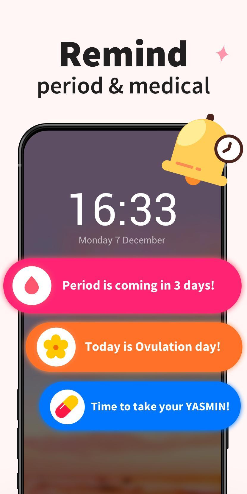 Period Tracker - Period Calendar Ovulation Tracker 1.716.221.GP Screenshot 4
