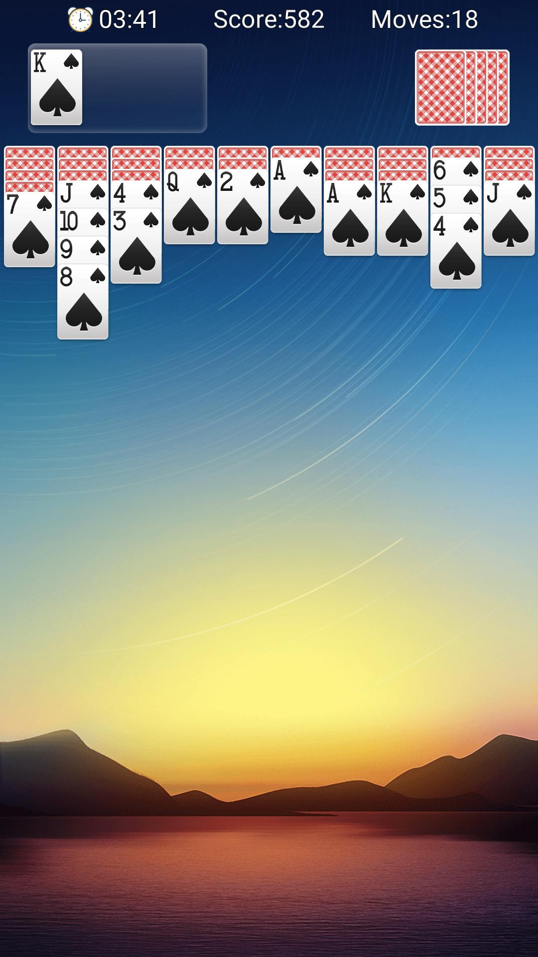 Classic Spider Solitaire-Free Solitaire Card Games 1.8.1 Screenshot 2