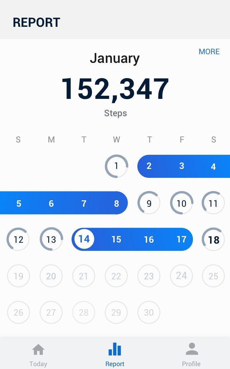 Pedometer -  Step Counter Free & Calorie Burner 2.0.0 Screenshot 14