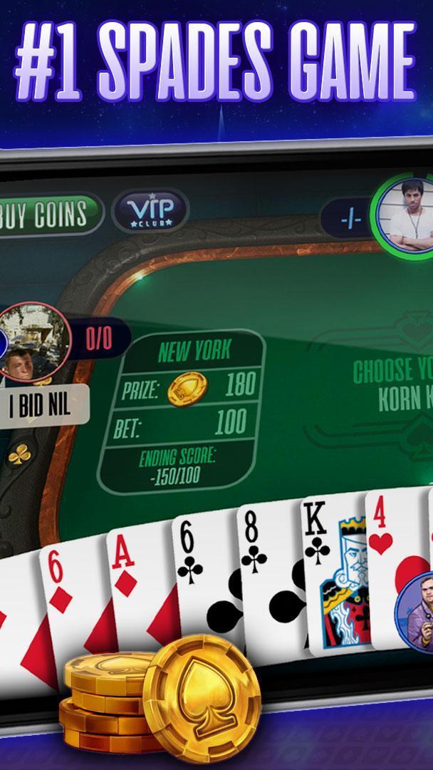Spades online spades plus friends, play now! ♠️ 2.4.3 Screenshot 1