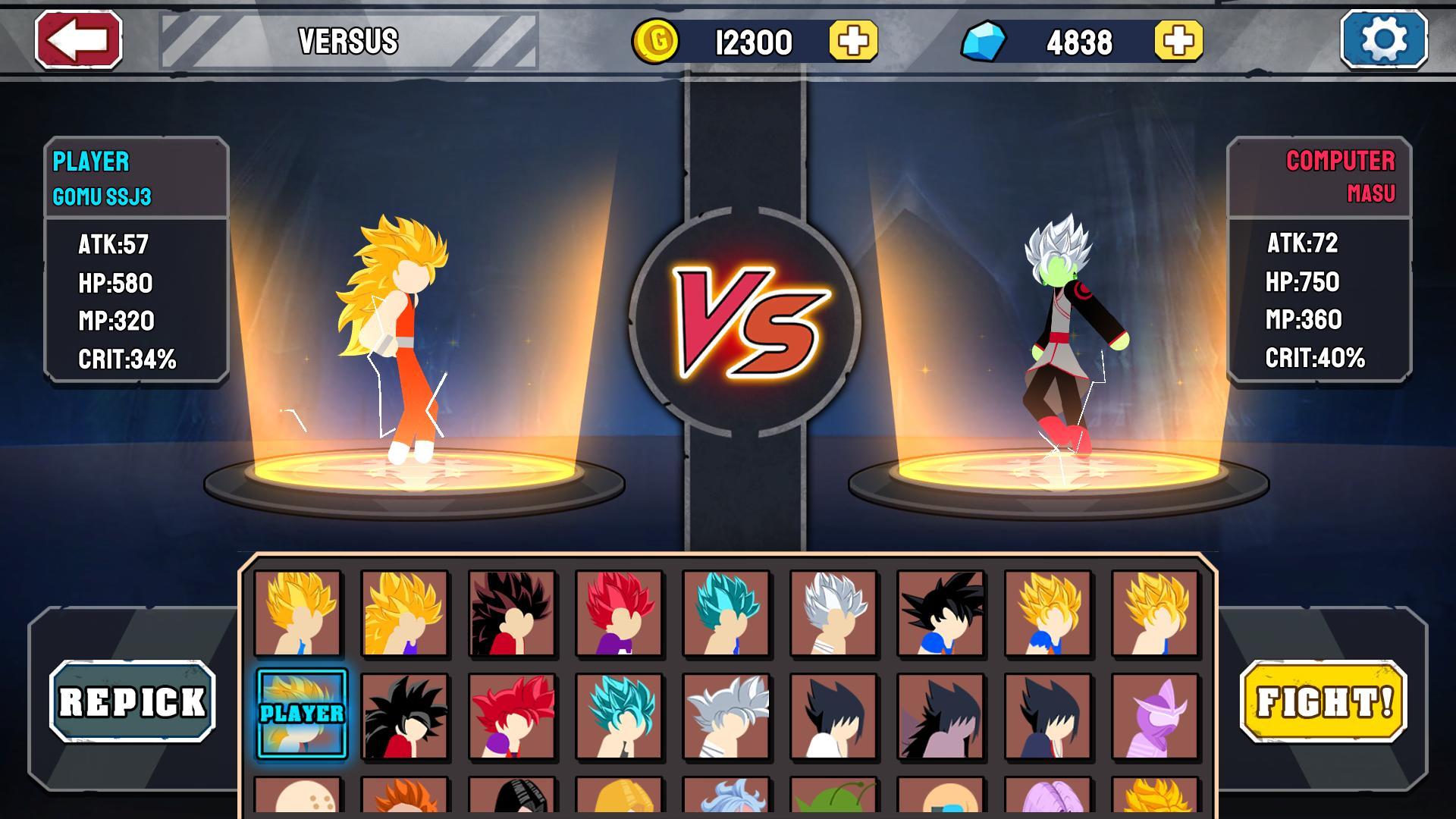 Stickman Warriors Super Dragon Shadow Fight 1.1.5 Screenshot 6