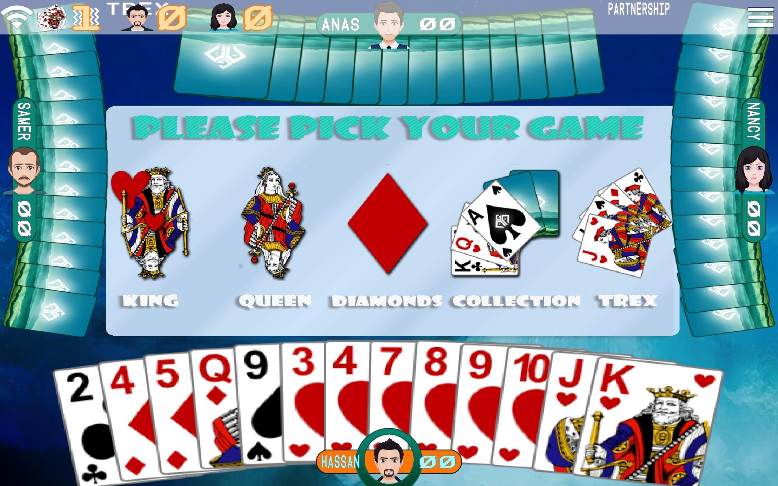 Golden Card Games (Tarneeb - Trix - Solitaire) 20.1.1.30 Screenshot 3