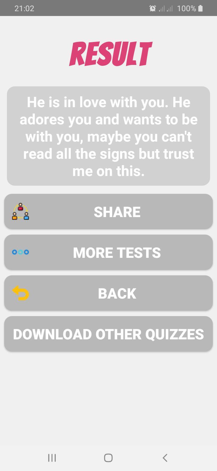 Does He Like Me? Personality Test 8.0 Screenshot 4