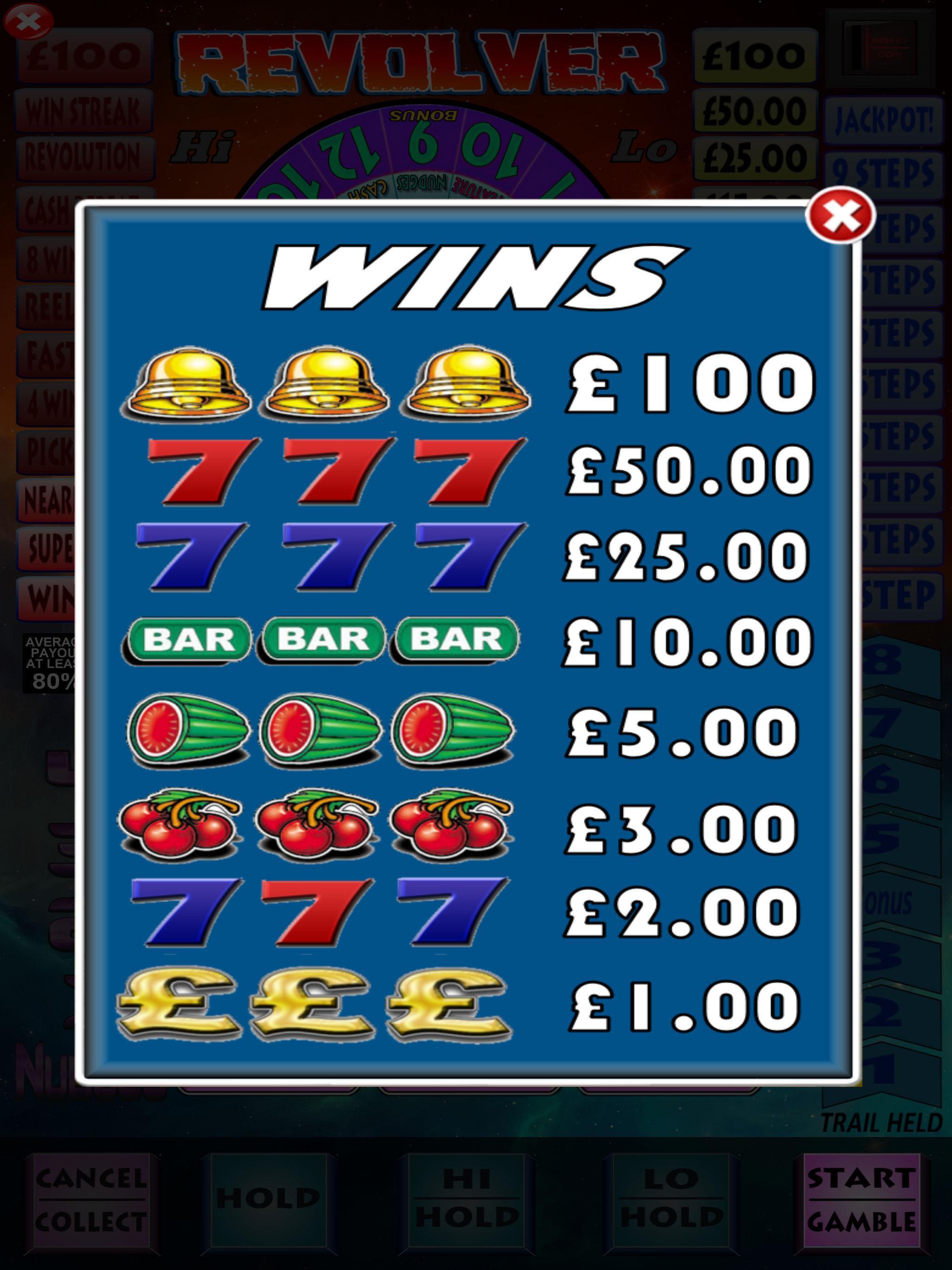Revolver Pub Fruit Machine 1.4 Screenshot 10