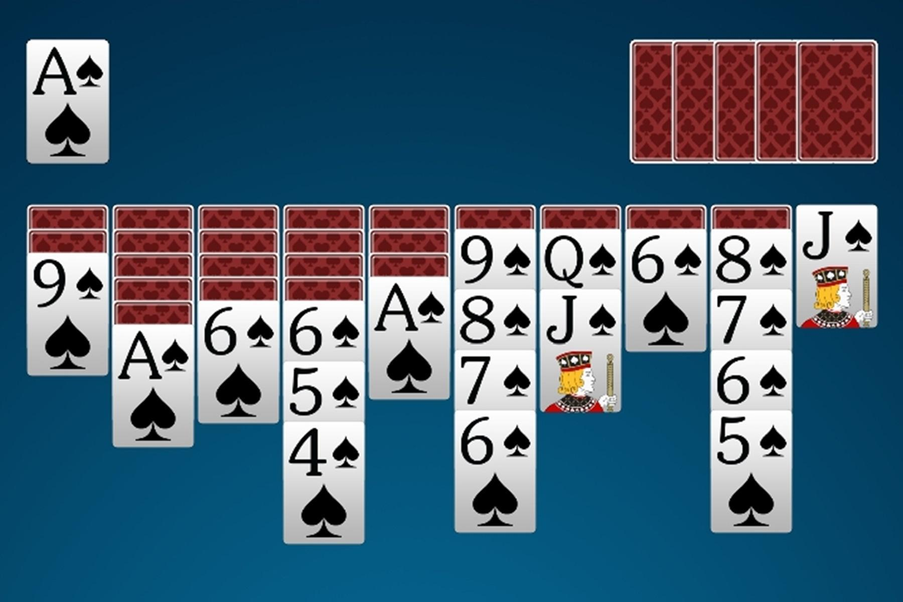 Spider Solitaire 4.4 Screenshot 2
