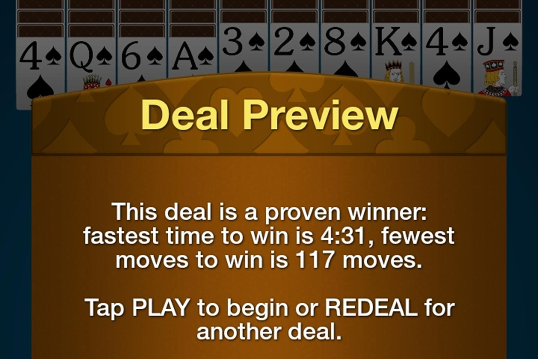 Spider Solitaire 4.4 Screenshot 4