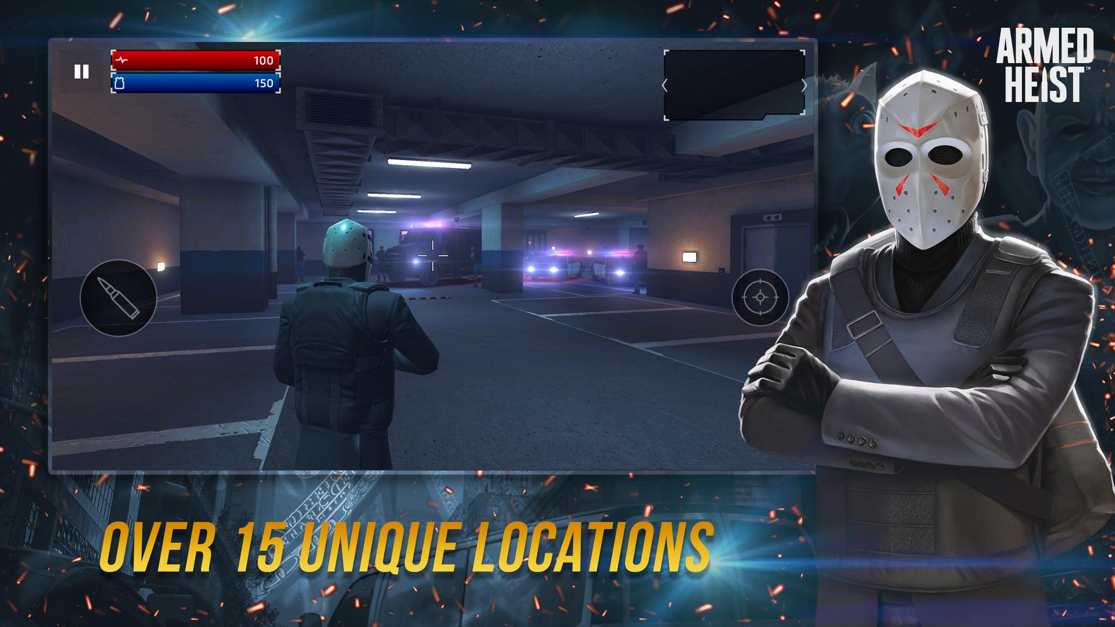 Armed Heist TPS 3D Sniper shooting gun games 2.1.1 Screenshot 5