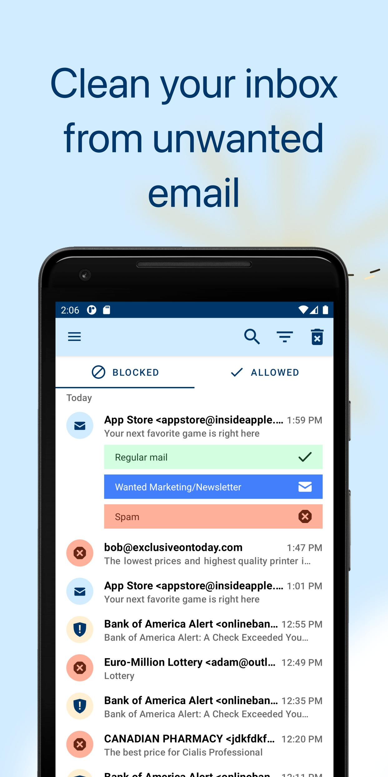 Spamdrain email spam filter 4.0.8 Screenshot 1