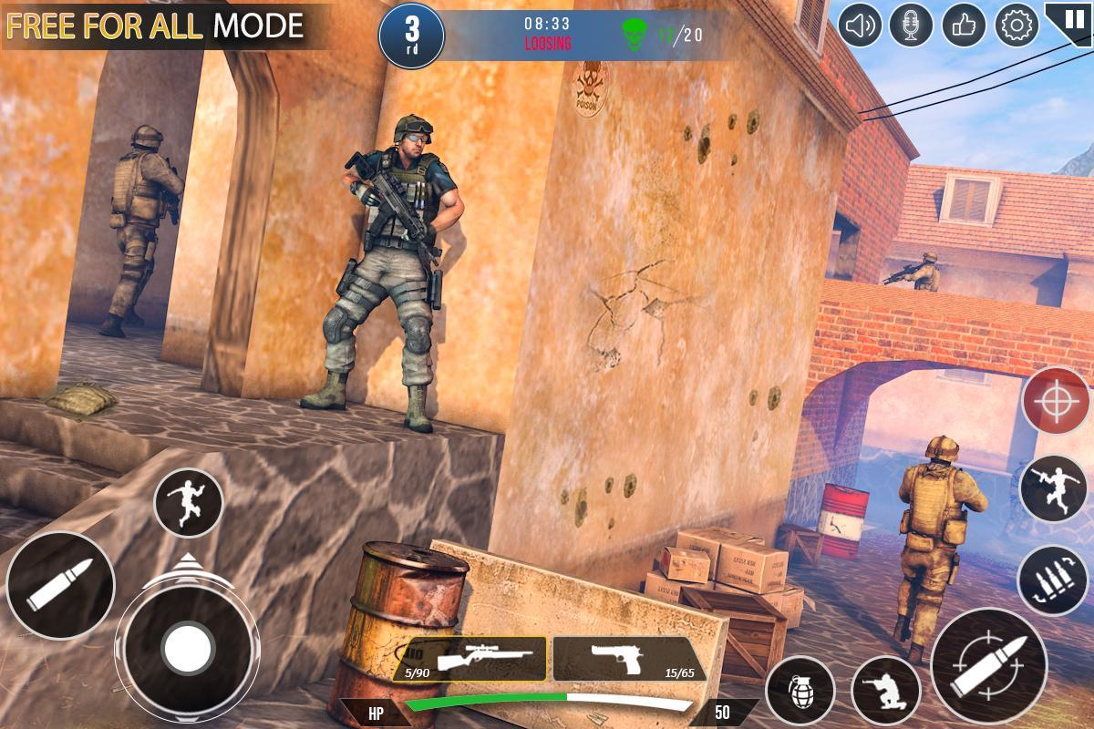Immortal Squad 3D Free Game: New Offline Gun Games 20.4.1.4 Screenshot 1