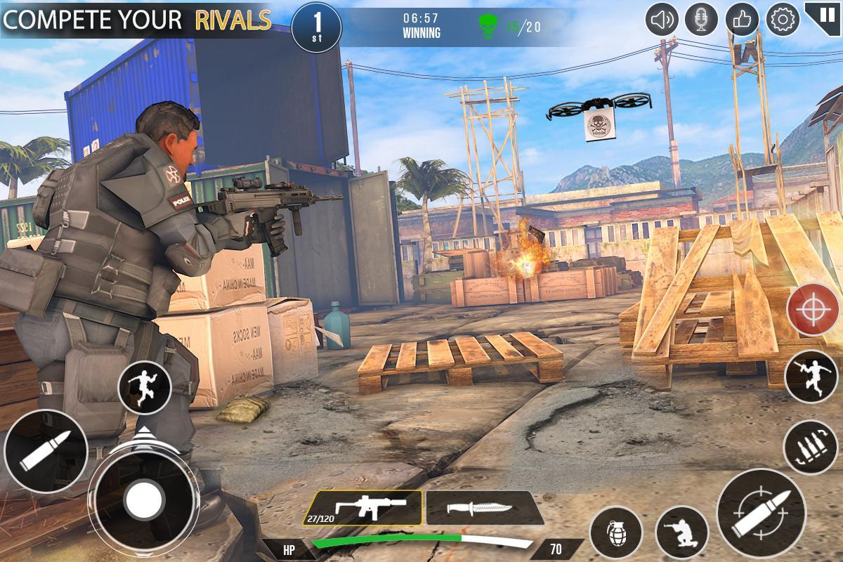 Immortal Squad 3D Free Game: New Offline Gun Games 20.4.1.4 Screenshot 4