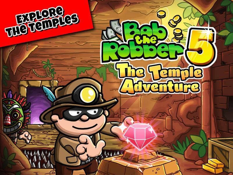 Bob The Robber 5 Temple Adventure by Kizi games 1.2.6 Screenshot 1