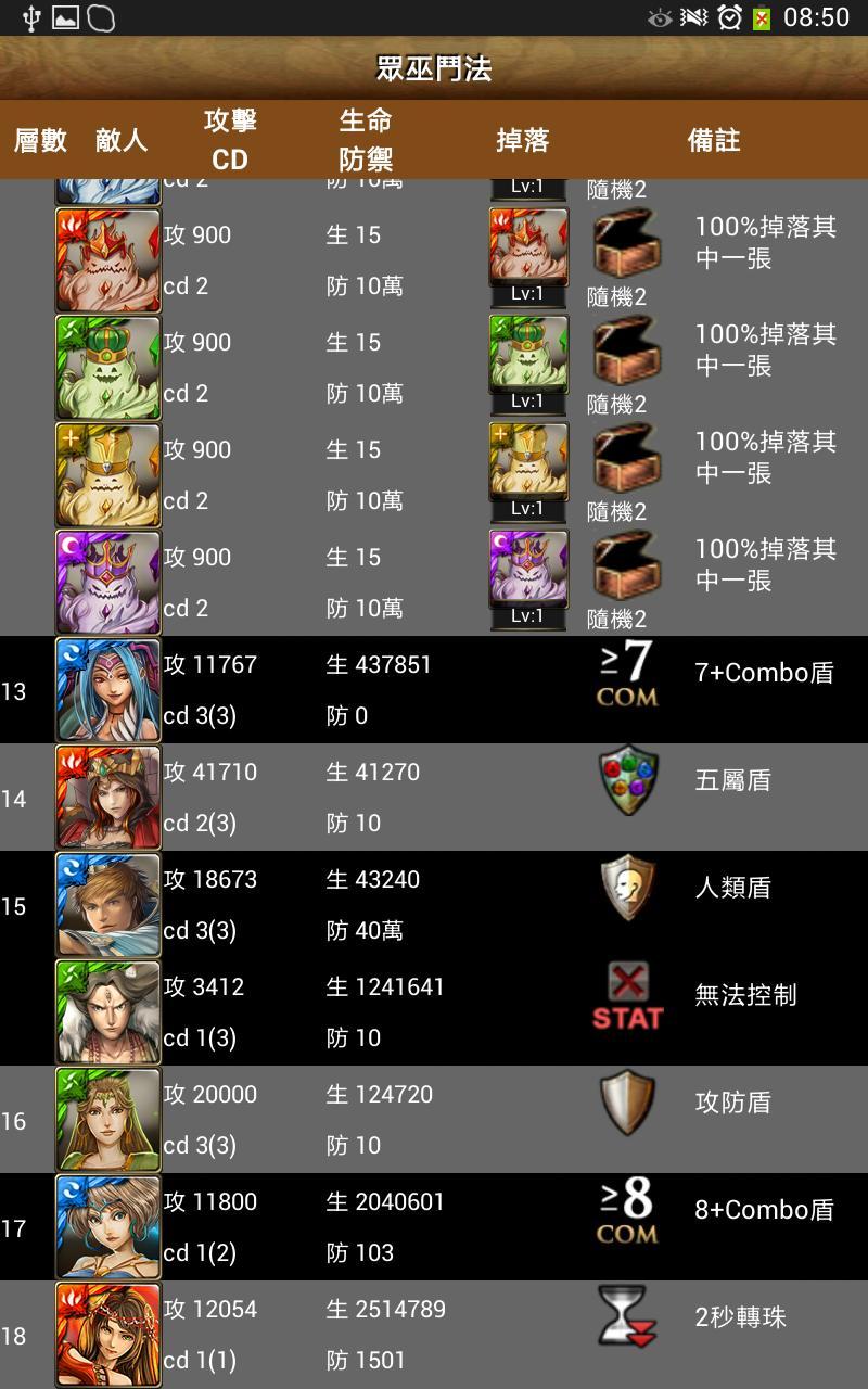 卡片圖鑑for神魔之塔 11.1.38 Screenshot 18