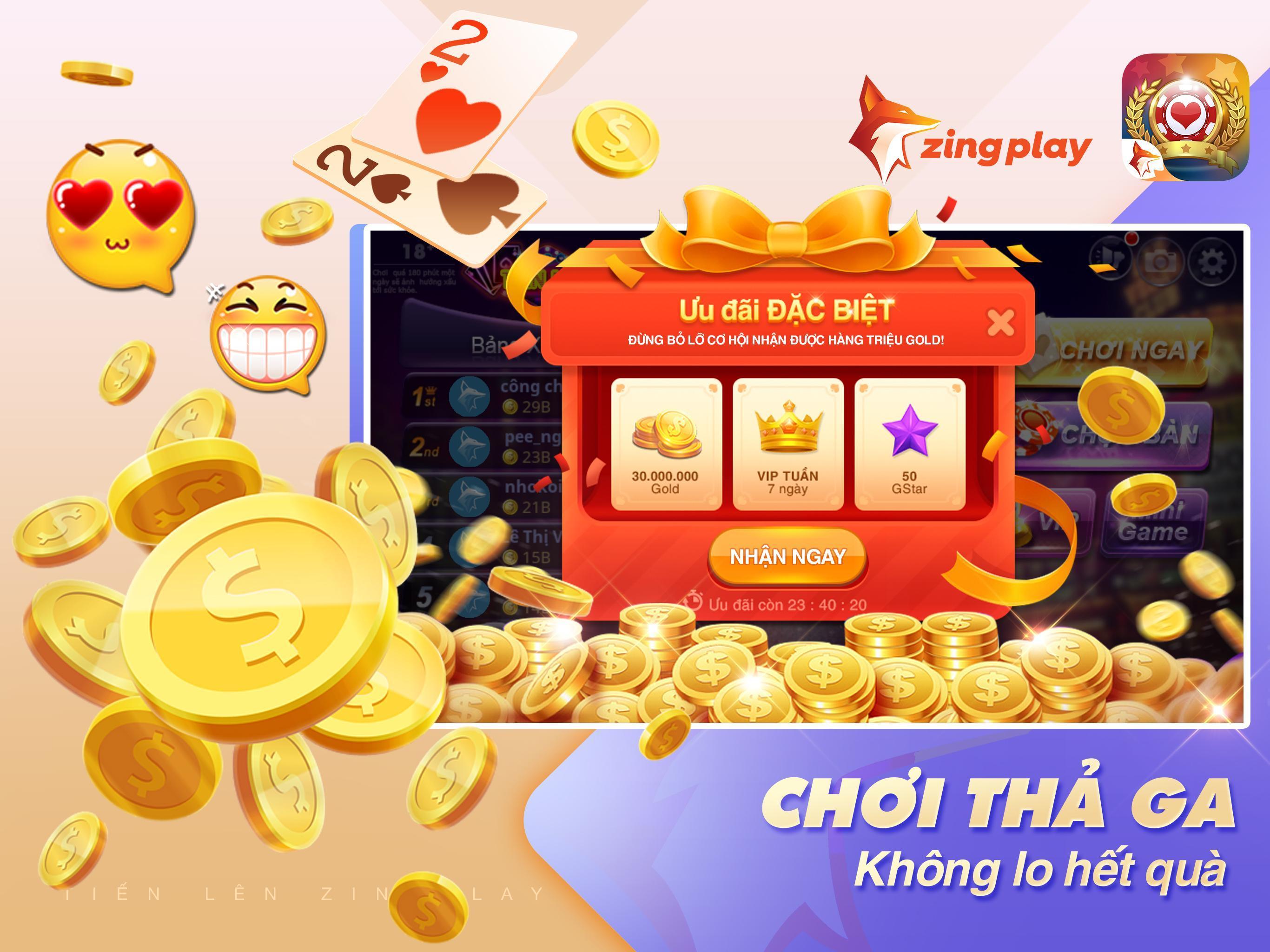 Tiến lên Miền Nam- Tiến Lên - tien len - ZingPlay 4.9 Screenshot 10