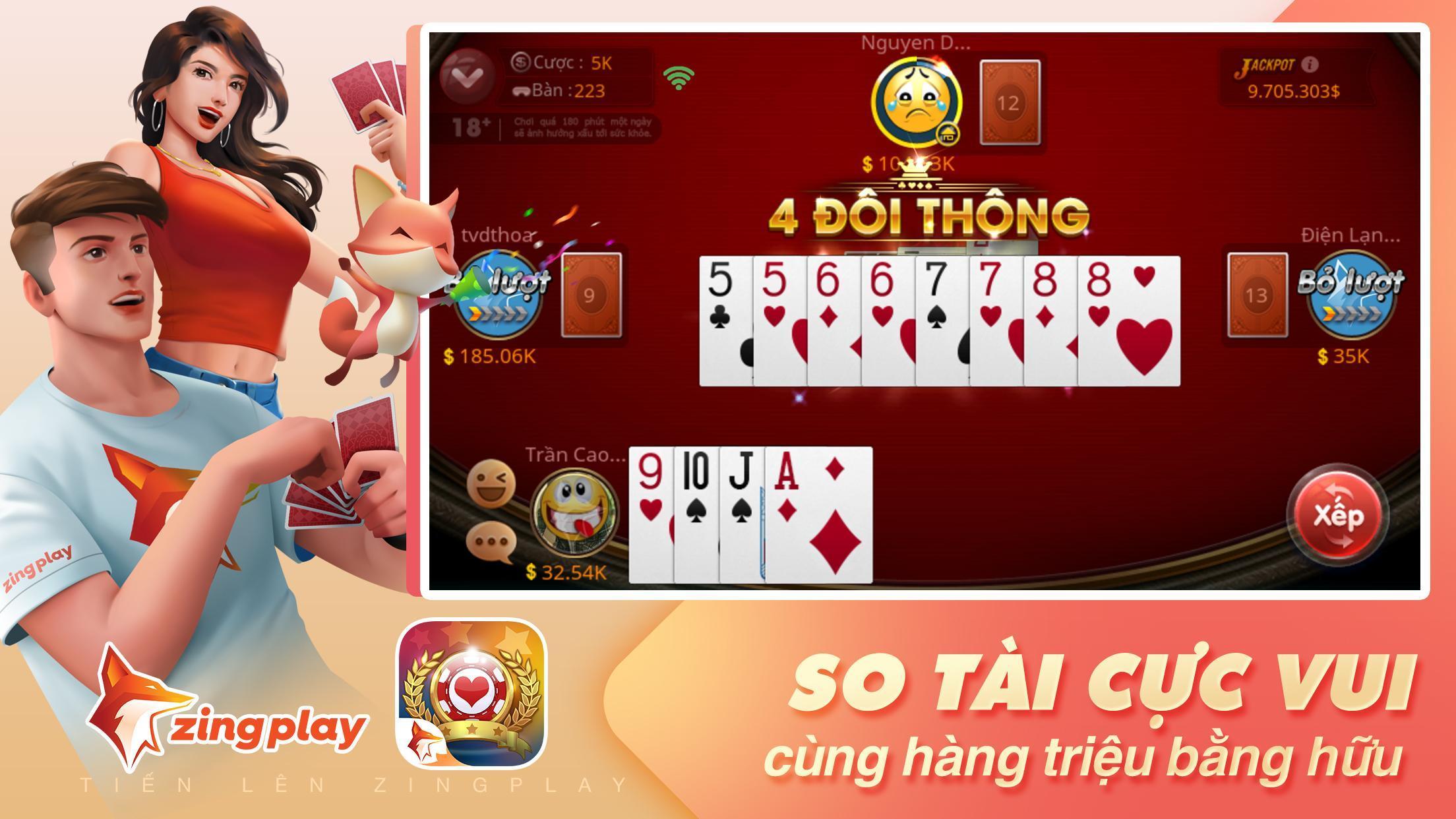Tiến lên Miền Nam- Tiến Lên - tien len - ZingPlay 4.9 Screenshot 2