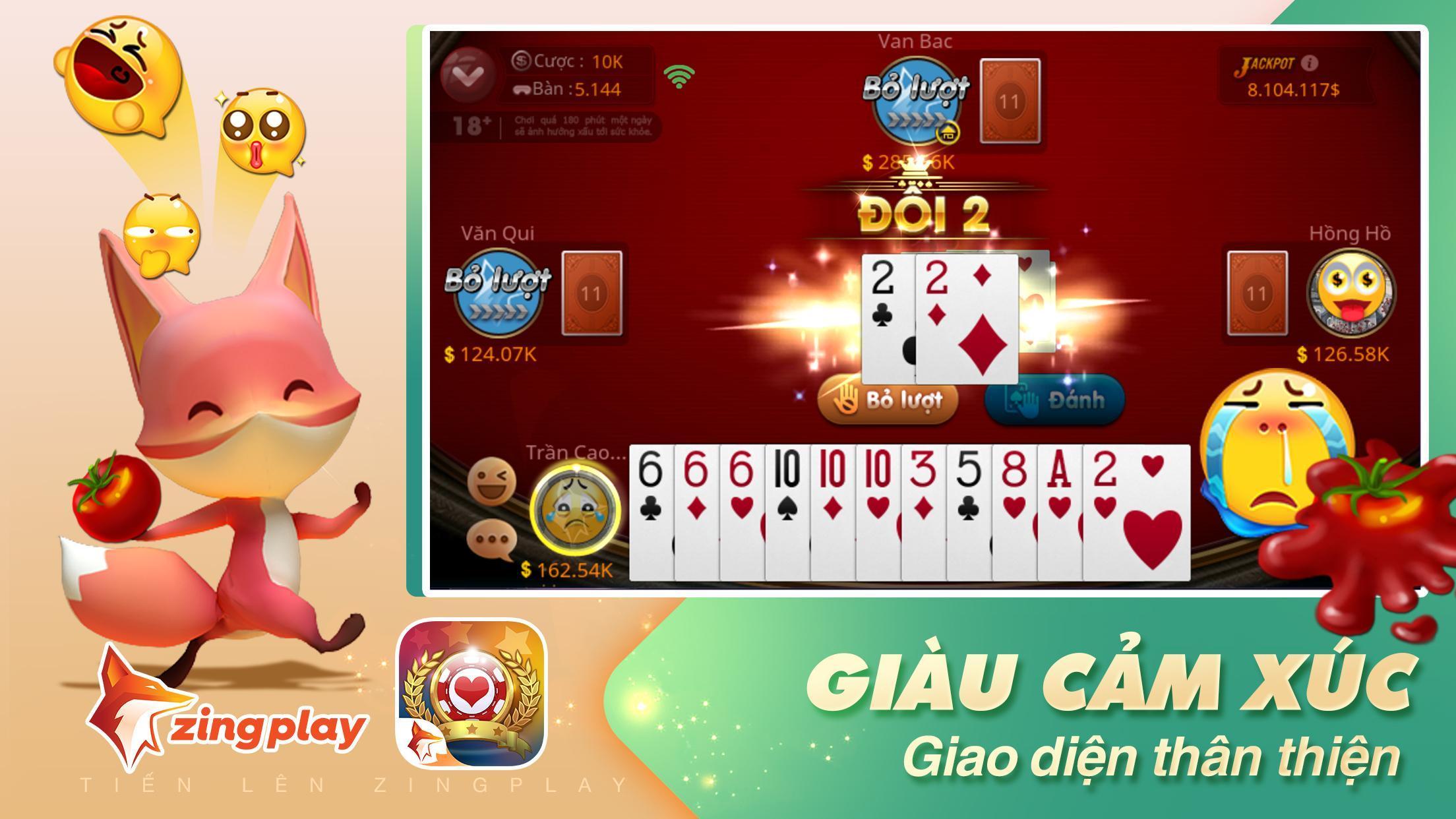 Tiến lên Miền Nam- Tiến Lên - tien len - ZingPlay 4.9 Screenshot 3