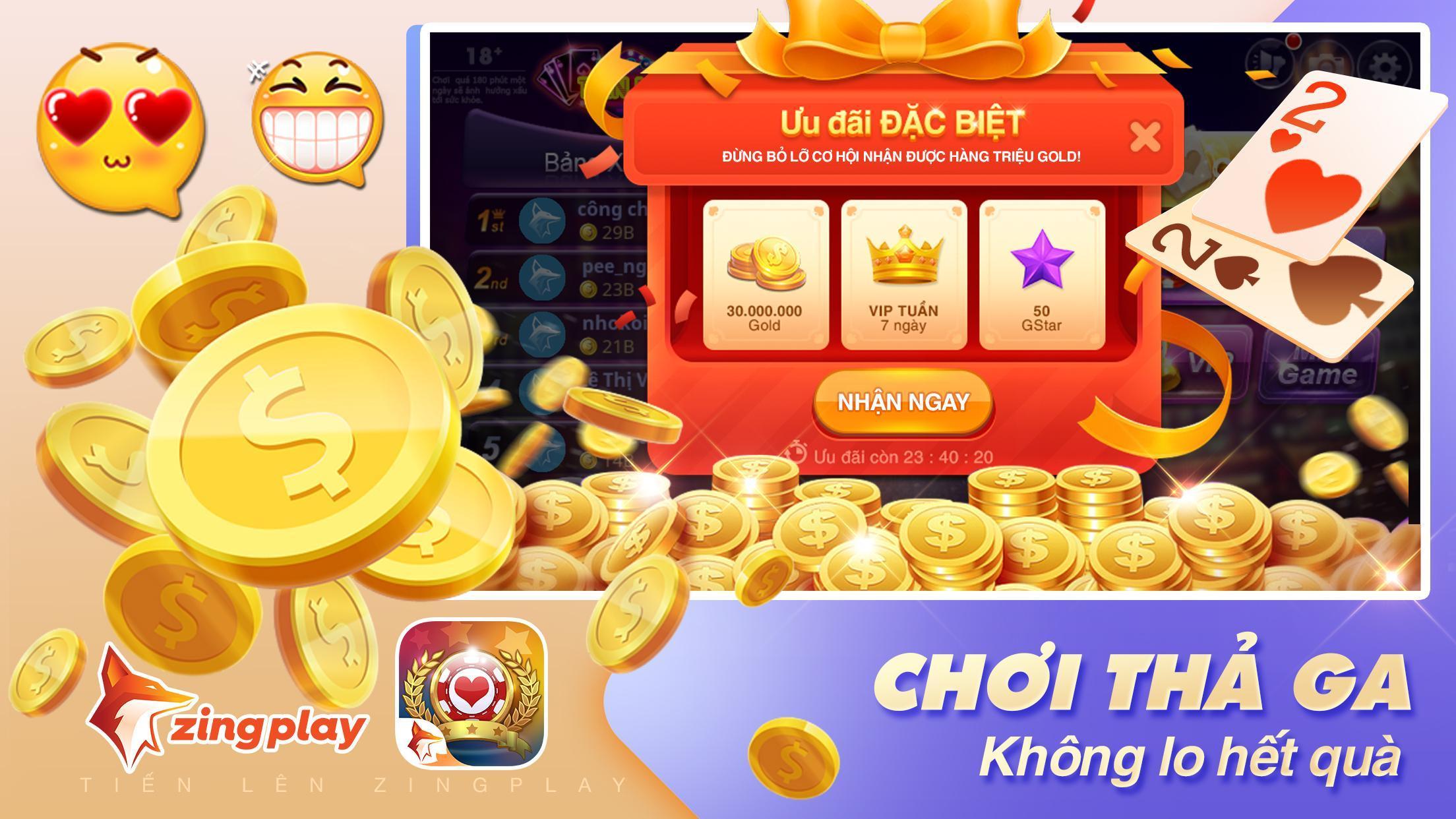 Tiến lên Miền Nam- Tiến Lên - tien len - ZingPlay 4.9 Screenshot 5