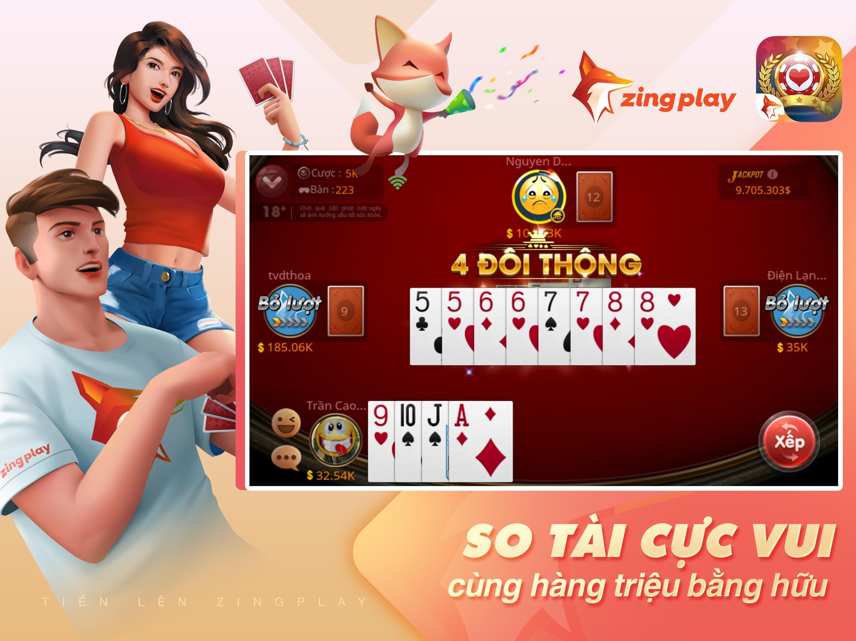 Tiến lên Miền Nam- Tiến Lên - tien len - ZingPlay 4.9 Screenshot 7