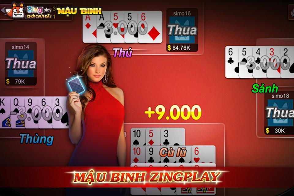 Poker VN Mậu Binh – Binh Xập Xám - ZingPlay 4.4 Screenshot 1