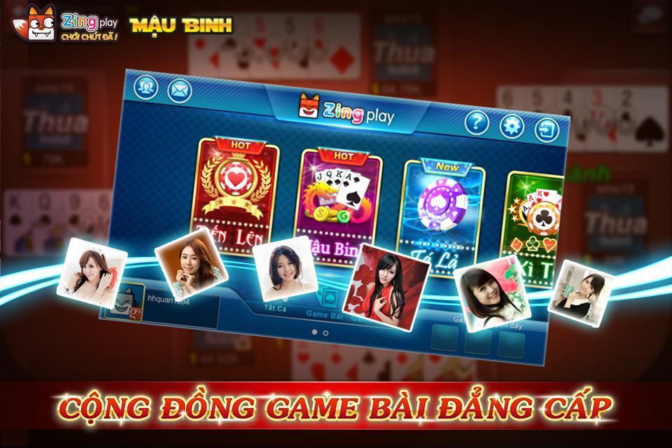 Poker VN Mậu Binh – Binh Xập Xám - ZingPlay 4.4 Screenshot 2