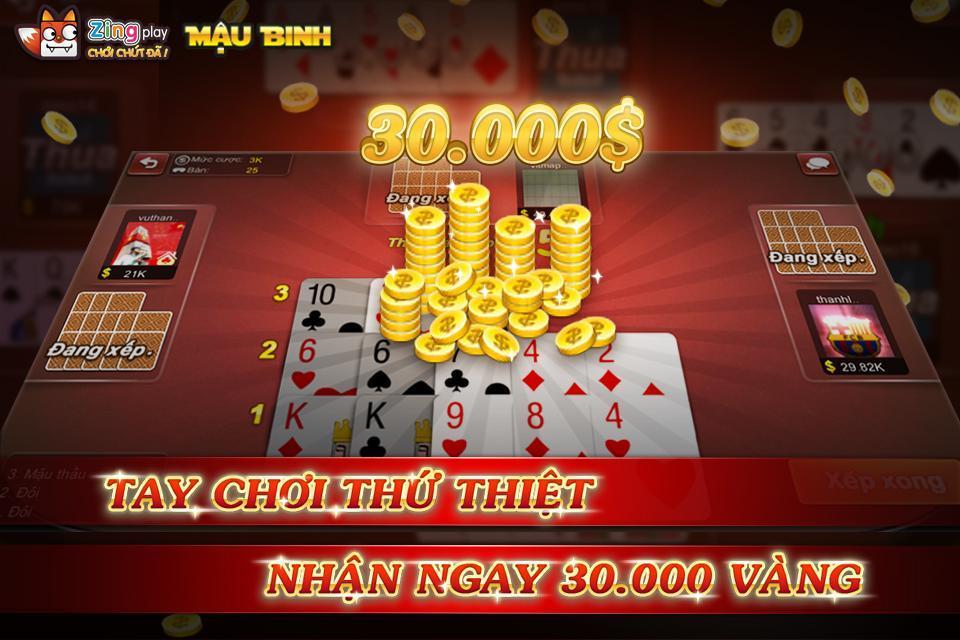 Poker VN Mậu Binh – Binh Xập Xám - ZingPlay 4.4 Screenshot 5